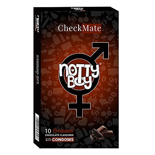 Condones NottyBoy de látex lubricados con sabor a chocolate, lo mejor para uso oral - 10 condones