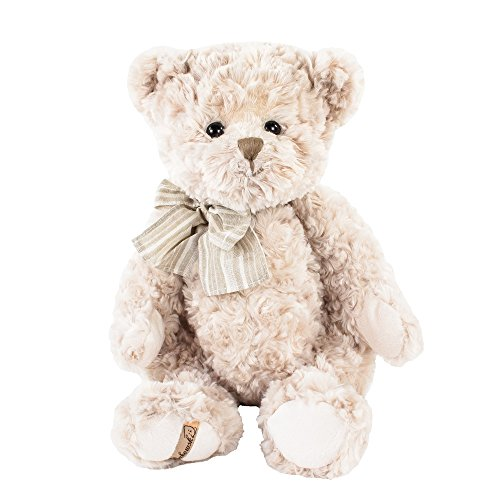 Barbara Bukowski, Pierrot Teddybär, Plüschteddybär, 40 cm, mit beiger Schleife
