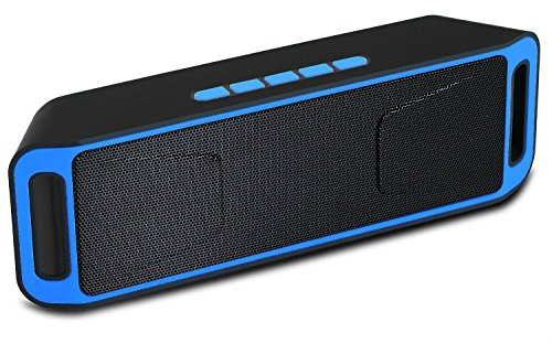 Surround Sound Bluetooth Portable Speaker, magicmoon senza fili, con altoparlante integrato, mani libere MIC-Works per Iphone, Ipad, Itouch e altri smartphone, lettori Mp3 blu
