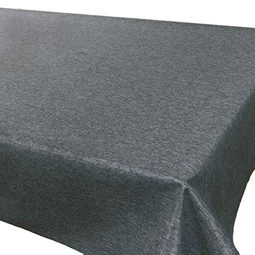 Tischdecke Wien, anthrazit, 130x160 cm, Fleckschutz, Tischdecke für das ganze Jahr