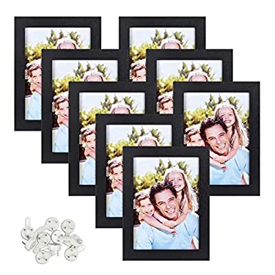 Sindcom Picture Frames, Set of 8, Multi Photo Frames Collage, with Glass Face, Mounting Hardware Included, for Wall or Tabletop Display