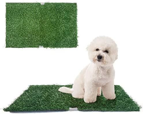 SCENEREAL Artificial Dog Grass Mat with Washable Pee Pads Set 2 Pack Portable Grass Turf Reusable product image