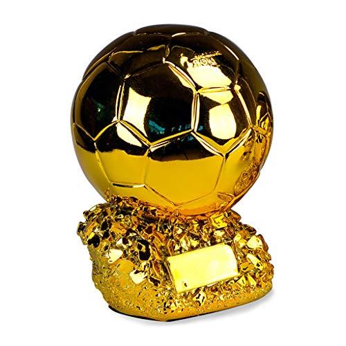 Trofeo de Oro de fútbol, Copia de la Copa Mundial de la FIFA Trofeo de la Copa de Europa Jugador del año en el balón de fútbol Mundial en Resina de Oro, estatuas de fútbol de 24 cm