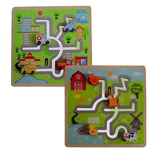 Jouéco Puzzle Labyrinthe Ville/Ferme, 80031