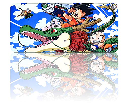 Dragon Ball Mouse Pad Large Extended Gaming Anime Mousepad, Non-Slip Water-Resistant Rubber Base Mouse Mat(35.4'x15.7')