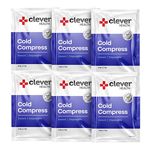 Instant Cold Pack | Disposable Ice Packs - Cold Therapy - for Injuries, Swelling, Inflammation, Muscle Strains, Sprains, Perfect for First aid Kit, outdoor activities, Athletes. 5x7 Inches, 6 Pack.