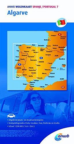 ANWB wegenkaart Spanje/Portugal 7 . Algarve