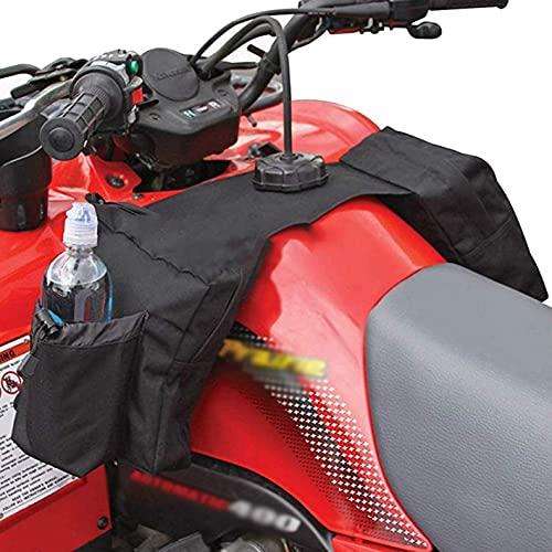 Bolsa sillín para tanque ATV, bolsa almacenamiento para motos, bolsa almacenamiento para depósito carga, accesorios frontales para almacenamiento, bolsa para depósito equipaje