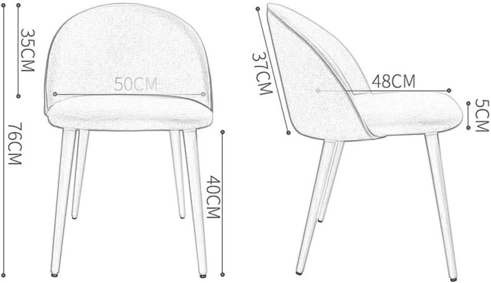 Chaises en Bois Massif À Manger Chaises Maison Chambre De Maquillage Chaises Doux Salon Chaises Dossier 4 Jambes Charge Max 130KG 50x48x76cm 1