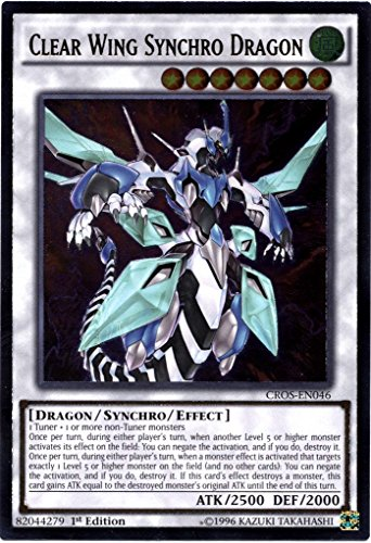 YU-GI-OH! - Clear Wing Synchro Dragon (CROS-EN046) - Crossed Souls - Unlimited Edition - Ultimate Rare