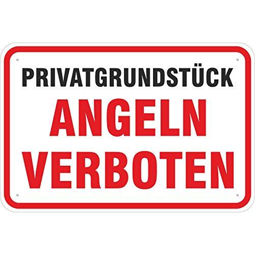 Schild Angeln verboten 200 x 300 mm aus Aluminium-Verbundmaterial 3mm stark