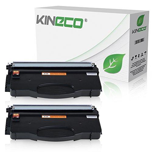 2 Toner kompatibel zu Lexmark E120N Series, Optra E120N Series - Schwarz je 2.000 Seiten