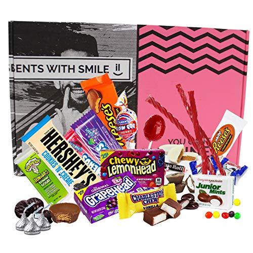 Süßigkeiten Box aus Amerika | American Sweets Box als Geschenk, Geschenkidee für Frauen Männer | Amerikanischer Süßigkeiten Mix