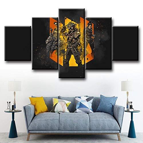 GFHFG 5 Pcs Enmarcado Lienzo 150X80Cm 5 Paneles De Pintura De Pared Juego Wall Art Decoración del Hogar Impresiones HD Póster Mural De La Decoración De La Pared