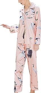 FEISI22 Womens 2 Piece Pajama Sleepwear Set Pajamas Set Sleepwear Button Down Nightwear Soft Pj Lounge Sets