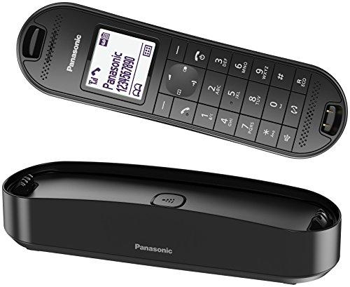 Panasonic KX-TGK320GB Design-Telefon schnurlos mit Anrufbeantworter, analoges Telefon (DECT) in Schwarz