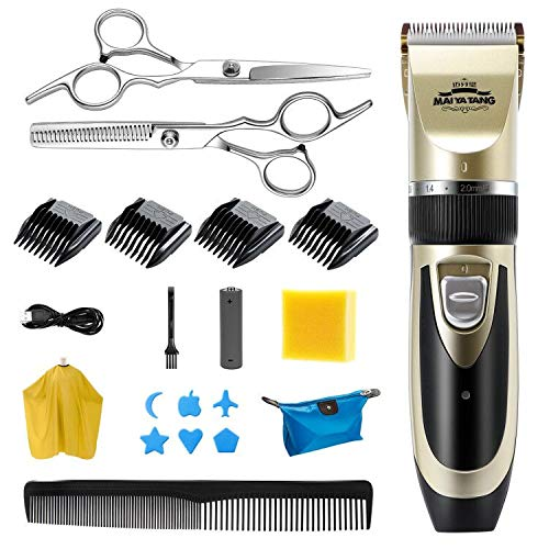 EXTSUD Haarschneidemaschine Set, Elektrischer Haarscherer Profi Haarschneider Herren Haartrimmer Bartschneider Barttrimmer Präzisionstrimmer Langhaarschneider für Herren Kinder Und Salon
