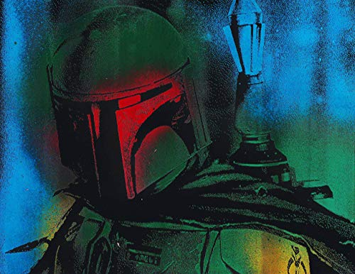 Boba Fett Metal Painting Poster Star Wars Spray Paint