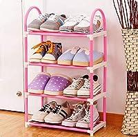 シューズラック 靴棚 くつ収納 玄関収納 下駄箱 収納棚 シューズボックス 靴入れ 整理 組み立て式 省スペース(4層)