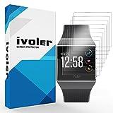 ivoler [8 Unidades] Protector de Pantalla para Fitbit Ionic, [Cobertura Completa] [líquida Instalar] [Sin Burbujas] HD Transparente TPU Suave láminas Protectora