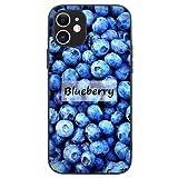 FAUNOW Coque pour iPhone 11 Blueberry TPU + PC Antichoc Noir