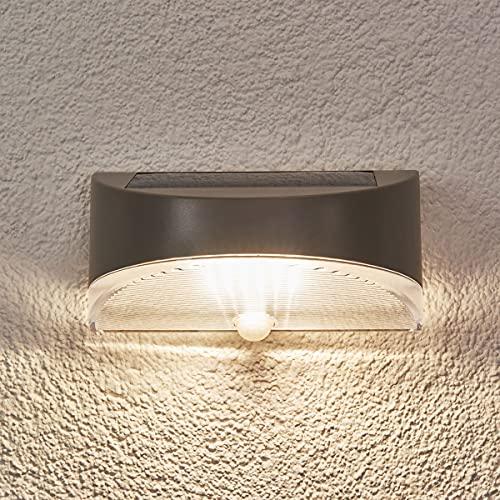 CGC gris plata LED solar al aire libre pared seguridad PIR sensor movimiento jardín porche patio cobertizo lámpara moderno nuevo