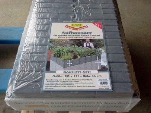 Juwel 20560 Aufbausatz für Hochbeet Größe 2 oder Tomatenhaus, Farbe basalt