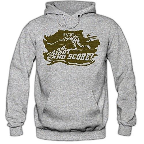 Shirt Happenz Eishockey-PSS Hoodie |Eishockey | Play Offs | USA | Kapuzenpullover, Farbe:Graumeliert (Greymelange F421);Größe:S