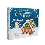 Kit grande para hacer tu propia casa de jengibre de Navidad - Fácil de hacer - Sin horno - Incluye pan de jengibre con forma previa, glaseado y decoraciones - Diversión navideña para toda la familia.