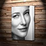 CATE BLANCHETT - Canvas Print (A4 - Signed by the Artist)