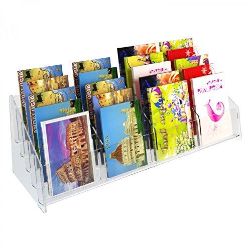 Avà srl Expositor para Tarjetas Postales con 20 Compartimentos