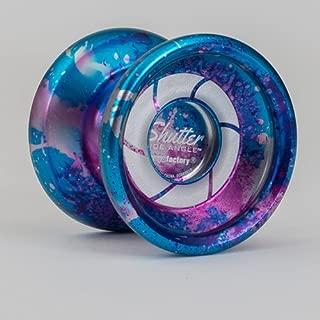 YoYoFactory Wide Angle Shutter Yo-Yo Blasted Aluminum Finish (Galaxy)