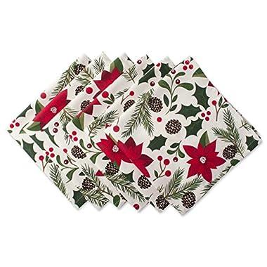 DII 100% Cotton, Machine Washable, Oversized Holiday 20x20 Napkin Set of 6, Woodland Christmas