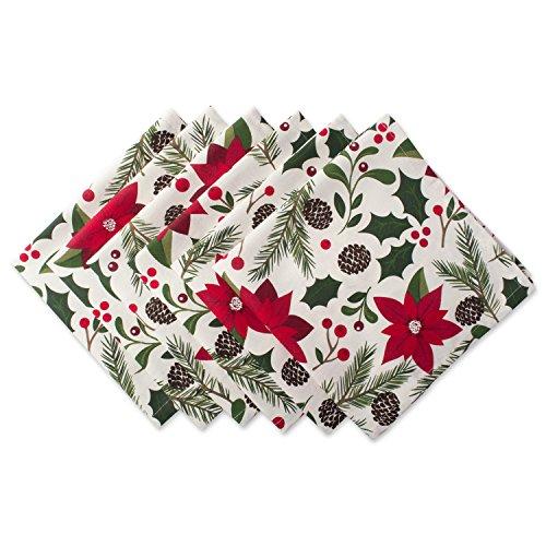 DII 100% Cotton, Machine Washable, Oversized Holiday 20x20' Napkin Set of 6, Woodland Christmas