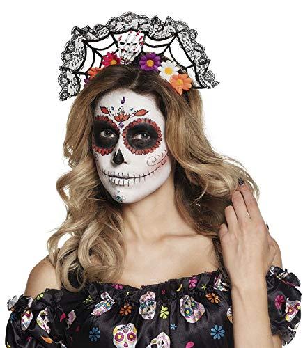 Boland 97063 - Cerchietto per capelli La Flora Day of The Dead, da donna, multicolore