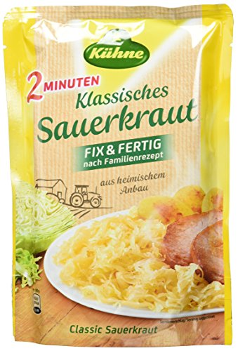 Kühne Klassisches Sauerkraut im Beutel, Fix & Fertig nach Familienrezept, 10er Pack (10 x 400 g)
