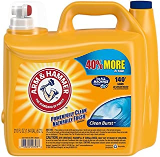 مواد شوینده رختشویی Arm & Hammer Liquid He، Clean Burst، 210 اونس