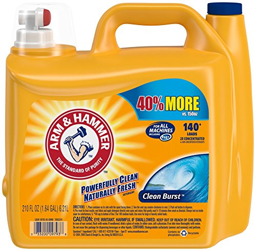 Our #5 Pick is the Arm & Hammer Liquid HE Laundry Detergent