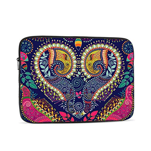 MacBook Pro 2017 Accessories Hippie Indian Colorful Heart Mandala Laptop Case MacBook Pro Multi-Color & Size Choices 10/12/13/15/17 Inch Computer Tablet Briefcase Carrying Bag