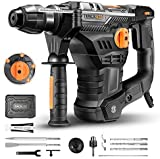 Perforateur, TACKLIFE 1500W Marteau Perforateur, 7J, 4350BPM, 900RPM, Mandrin SDS Plus 4 Modes...
