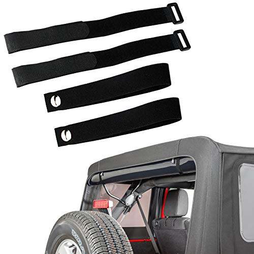 youmi Durable Tie Down Straps Soft Top Straps for 2007-2018 Jeep Wrangler JK £¨4 Pack£