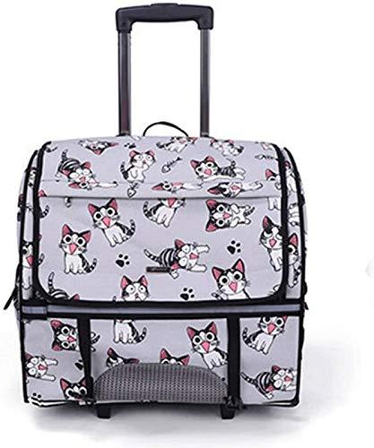 aipipl Mochila para Gatos Transportín de Viaje para Mascotas con Ruedas Dobles,...