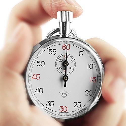 OneTigris Diamond 505 - Cronometro sportivo meccanico analogico, 1/10 secondi, 12h, lunga durata, con 13 gioielli