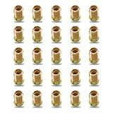 Her Kindness 25 Piezas Insertos de Madera Interior M8*20mm Tuercas Hexagonales,Tornillo Hexagonal de Acero al Carbono Galvanizado para Muebles de Madera
