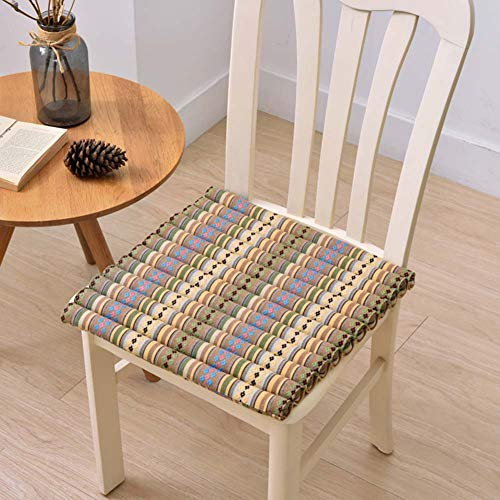 XNDCYX Wicker Seat Cushions Outdoor, Chair Pad Cushion, Cotton Chair Pads, Square Chair Cushion, Home Cushion, for Rocking, Dining, Patio, Camping, Kitchen Chairs, (40X40cm),2 Pack