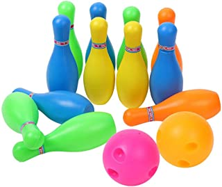 Colorful Cute Bowling Ball Pin Set Toy for Kid Child Early Intelligent Games Family Toys(5in)