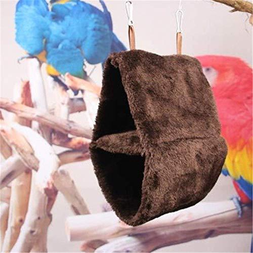 Cama para Mascotas Hábitat De Loros De Doble Capa Tienda Colgante para Cueva Cálido Pájaro Felpa Nido Esponjoso Hamaca para Loros Pequeños Medianos Loros De Cola Larga Love Bird Cama Suave para Masco