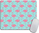 N\A Flamingo Gaming Mouse Pad Pink Tropical Flamingos Chevron Grey Fondo geométrico Alfombrilla de Mouse Decorativa Base de Goma Decoración del hogar para computadoras Laptop Oficina Hogar