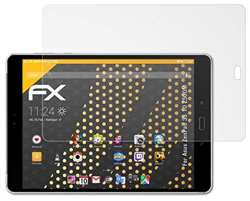 atFolix Panzerfolie kompatibel mit Asus ZenPad 3S 10 Z500M Schutzfolie, entspiegelnde & stoßdämpfende FX Folie (2X)