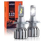 Wattstar Lampadine H4 LED 9600LM, Kit Lampada Sostituzione per Alogena Lampade e Xenon Luci, Fari Abbaglianti e Anabbaglianti per Auto, 6500K Bianco IP68, 2 lampade